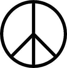 Autoaufkleber Sticker Tattoo - Peace Zeichen - Hippie, Frieden -Artikel 655