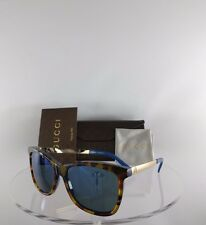 Brand New Authentic Gucci Sunglasses GG 3675/S H1J1G 56mm 3675 Blue Gold Frame
