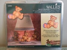 """Wallies Wall Paper Cut Outs 25 Precious Bear 5"""" Pre-pasted Washable"""