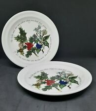 Portmeirion The Holly And The Ivy Christmas Side Plates x2 Made In England Xmas