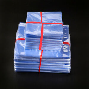 PVC Heat Shrink Wrapping Bag Plastic Pouch for Box Jar Cosmetic Packing Use Poly