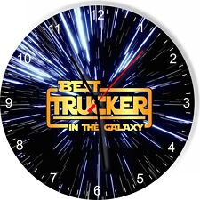 Best Trucker in the Star Galaxy Space Kitchen Living room Wall Clock