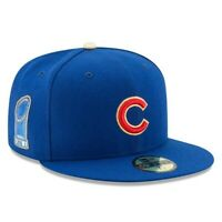 NWT CHICAGO CUBS NEW ERA 59FIFTY GOLD 2016 WORLD SERIES PATCH BLUE FITTED HAT