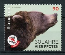 Austria 2018 MNH Four Paws Vier Pfoten 30 Yrs 1v Set Bears Wild Animals Stamps