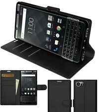 AMZER Black Flip Case Folio Wallet Protective Cover Holder For BlackBerry KEYone
