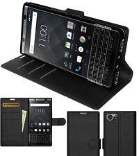 Amzer Custodia Flip Nera Portafoglio Porta Copertura protettiva per BlackBerry Keyone