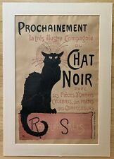 Original Theophile Steinlen CHAT NOIR Color Lithograph French Poster from 1896