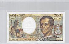 France 200 Francs Montesquieu 1986 Alphabet H.042 n° 0827520296 Rare