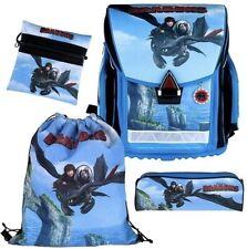 DreamWorks Dragons Schulranzen-Set 4-teilig Ranzen Tasche Stylex Schuleinführung