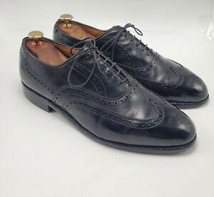 Allen Edmonds CHESTER Black Leather Brogue Wingtips sz 9.5 D MENS US