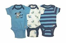 Gerber Newborn Baby Boy Assorted Short Sleeve Onesies Bodysuits 3-pack, 3-9mos.