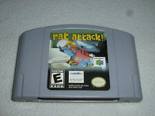 NINTENDO N64 VIDEO GAME RAT ATTACK CARTRIDGE ONLY RARE CART