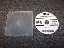 Kubota RTV-X1140 Tractor Utility Vehicle Workshop Shop Service Repair Manual DVD