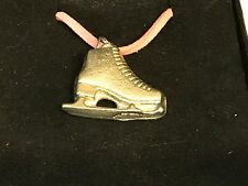 "Ice Skate TG108 English Pewter On a 18"" Pink Cord Necklace"