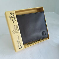 NEW in Box Handsome Brown STONE MOUNTAIN  Leather Wallet Retail: $50 RFID