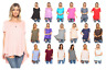 3 Pack Women's Short Sleeve Loose Fit Flare Flowy T Shirt Tunic Top Blouse Plus