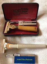 Vintage Schick Razor Lot Nice Pre-Owned Condition