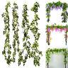 fleurs artificiel vigne guirlande feuillages Noël décorations / maison 7FT/ 2M