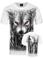 Spiral T-shirt Forest Wolf Men's White