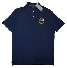 POLO RALPH LAUREN CLASSIC FIT POLO SHIRT CP-93 YACHT CROSS FLAGS NAVY XL X-LARGE