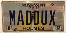 Vanity MADDUX license plate Greg Atlanta Braves MLB Chicago Cubs Mike Maddox Mad