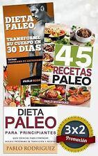 Pack Dieta Paleo 3x2: Dieta Paleo para Principiantes + 45 Recetas Paleo +...