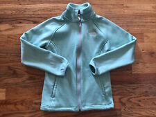 The North Face Green Fleece Zip Up Jacket Girls Size Med (10/12)
