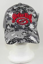 Strike King Hat Cap Digital Camouflage Fishing Lure Worm Spinner Crankbait Gray