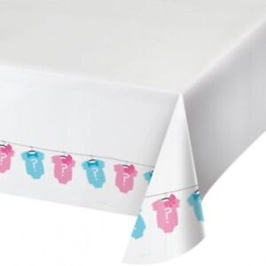 Creative Converting Bow or Bow Tie  gender reveal Table Cover