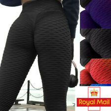 Womens Anti-Cellulite Yoga Pants Push Up Ruched Sports Gym Trousers Leggings