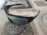 occhiali DEMON FUEL nero verde con lenti di ricambio arancio e trasparente
