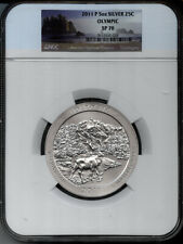 2011-P 5 OUNCE OLYMPIC   SILVER 25c  NGC SPECIMEN 70 - SP70