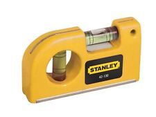 Stanley Tools - Magnetic Horizontal / Vertical Pocket Level - 0-42-130