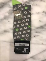 "JF J.FERRAR Men's Dress Socks ""Xs and Os"" Fun Pattern Size 10-13 NWT"