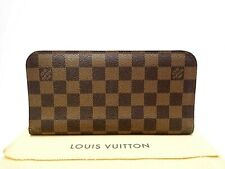 Authentic LOUIS VUITTON Long Wallet Damier Ebene Insolite N63071 Browns