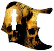 J Bass Pickguard Custom Fender Graphic Graphical Guitar Pick Guard Ancient Skull