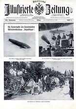"""Das erste österreichische lenkbare Luftschiff """"Renners ESTARIC 1"""" Graz 1909"""