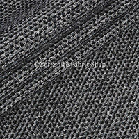 Textured Plain Weave Soft Furnishings Upholstery Curtains Sofas Fabric New Black