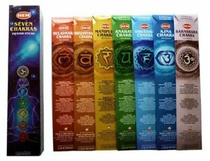 HEM Seven Chakras Incense Sticks - 7 Chakra HEM Incense