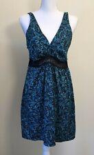 Delta Burke Nightgown Slip Nightie, Size 1X, Blue & Black Stretch Adj Straps
