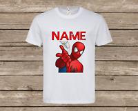 Kids Personalised Spider-Man T-Shirt Children's Avenger Top Superhero Gift