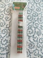 Kyjen Red/Clear/Green Rhinestone Christmas Collar ~ Stretch ~ Size Small ~ New