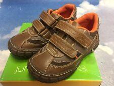 Jumping Jacks Brown Leather Hook & Loop Causal Sneaker Toddler Size 8W / 8.5W