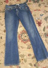 Levis Womens 6M 515 Nouveau Boot Cut Jeans Distressed Denim Blue