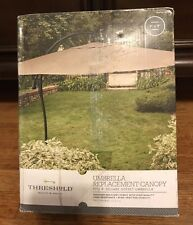 New Threshold 9' Square Offset Umbrella Replacement Canopy - BEIGE # 009-05-0022