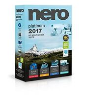 Nero 2017 Platinum 4K HD Multimedia Suite for Windows – Sealed Retail Box, New