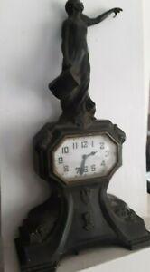 """Art Nouveau Clock  Woman Water Pitcher 12.5"""" restoration"""