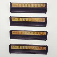 1999 Scrabble Deluxe Tile Holders Racks Replacement Game Part Maroon