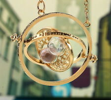 2 Harry Potter Time Turner Hermione Granger Rotating Spins Hourglass Necklace