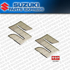 "(2) NEW OEM SUZUKI ""S"" EMBLEM TANK DECALS CHROME SV KATANA GS GSF 68111-18G20"